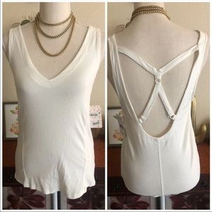 NWT Free People Ribbed Strappy Tank Top Shirt